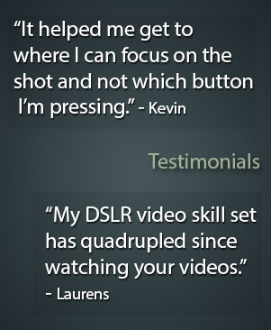 training DSLR video